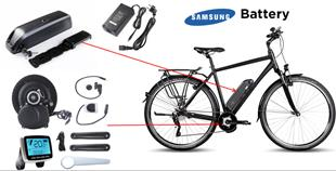 99039 E Bike Conversion Kit with Mid Mount Motor and Battery