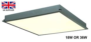 15132 LED Panel Light Recessed Suspended 18W 230V AC 300x300x60mm